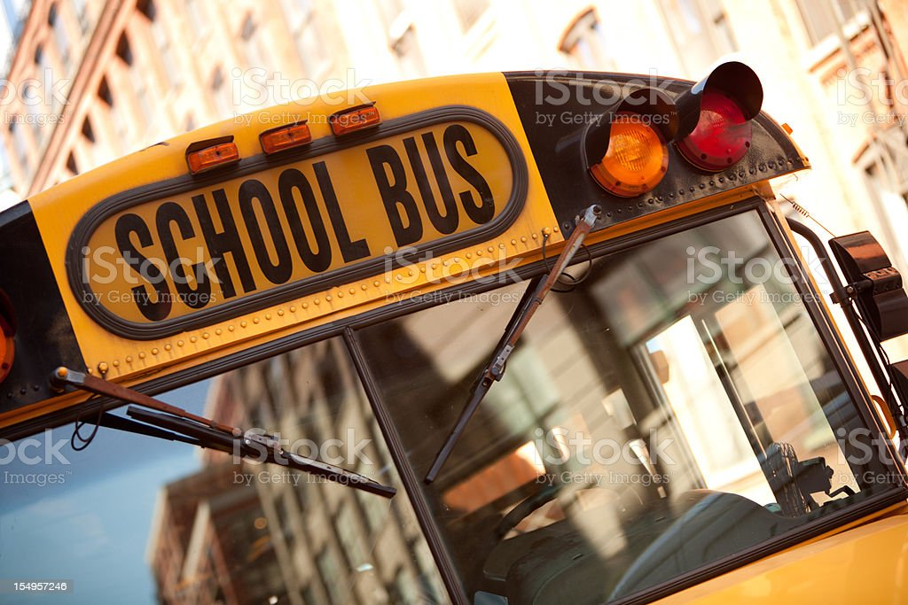 School Bus in New York royalty-free stock photo