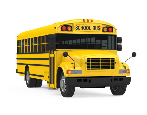 school bus isolated - school buses stock pictures, royalty-free photos & images