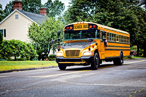 school bus - school buses stock pictures, royalty-free photos & images