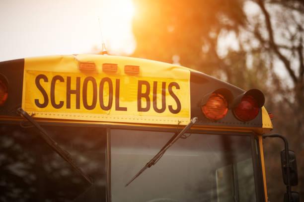 bus scolaire  - bus scolaires photos et images de collection