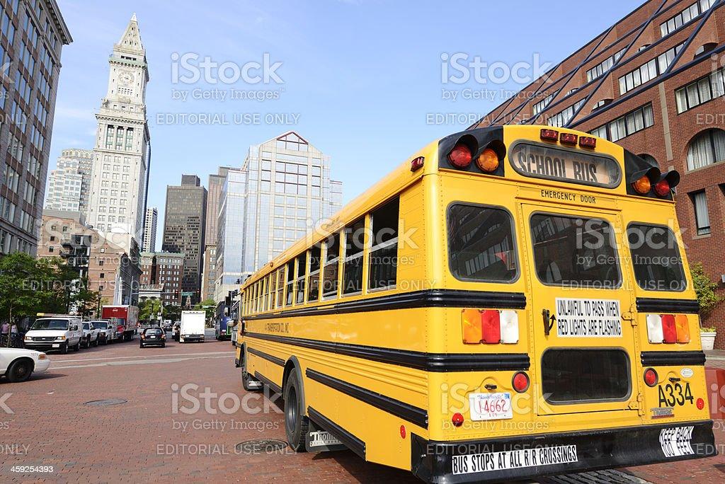 School Bus,Boston royalty-free stock photo