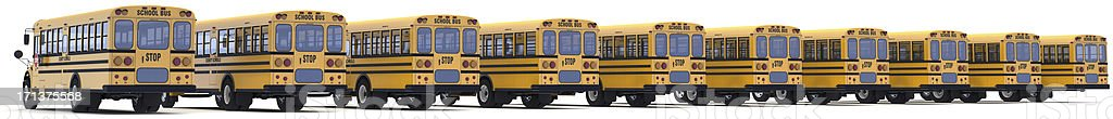 School buses royalty-free stock photo