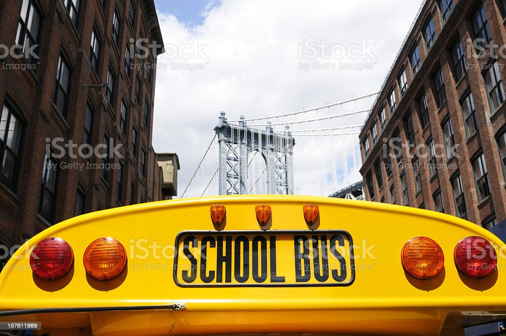 School Bus,NYC royalty-free stock photo