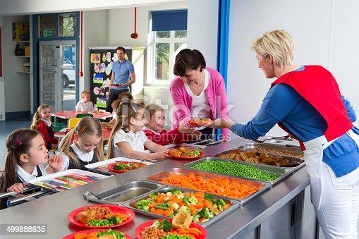 istock School Caferteria Line 499888635