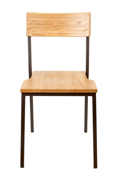 school chair isolated on white stock photo