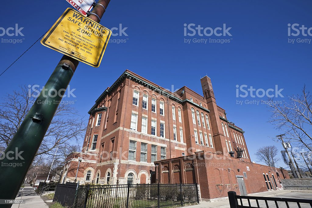 School Chicago Southwest Side royalty-free stock photo