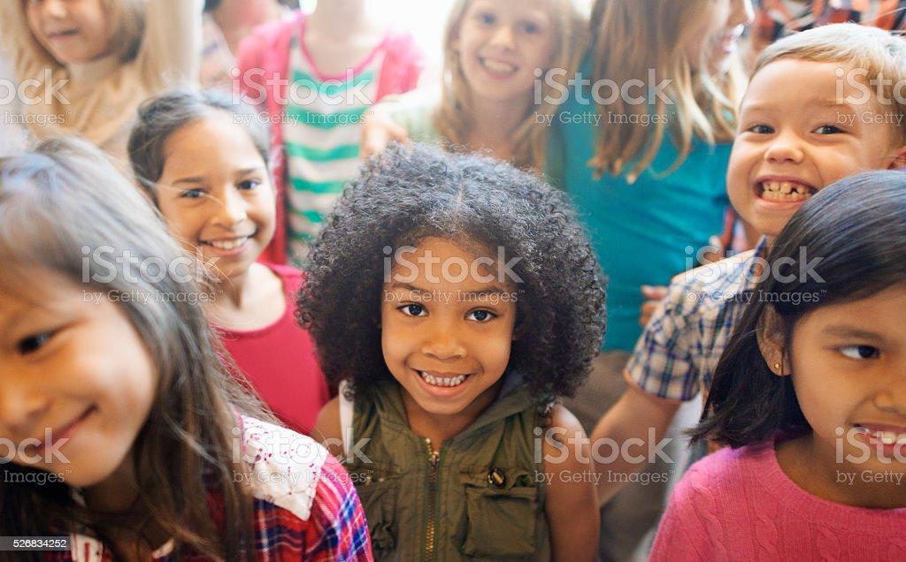 School Children Cheerful Variation Concept stock photo