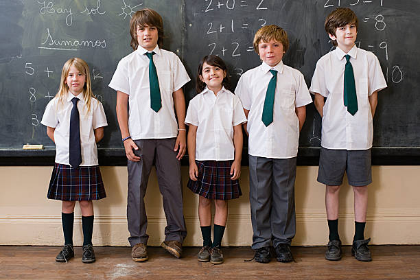 School children in classroom stock photo