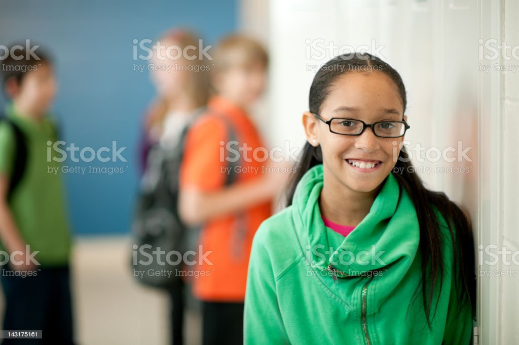 School children stock photo