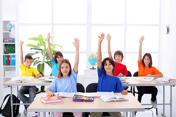 Image result for children raising hands in classroom