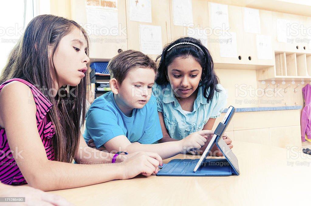 School Children using Tablet PC royalty-free stock photo