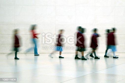 istock School children walking, motion blur 108311826
