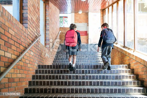 istock School children with backpacks walking upstairs 1124358262