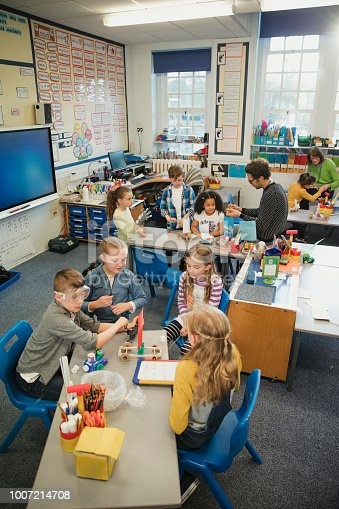istock School Children Working on a Project in Elementary Class 1007214708