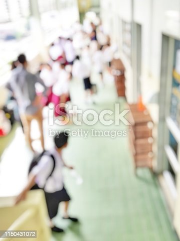 618753504 istock photo School classroom in blur background without young student; Blurry view of elementary class room no kid or teacher with chairs and tables in campus. 1150431072