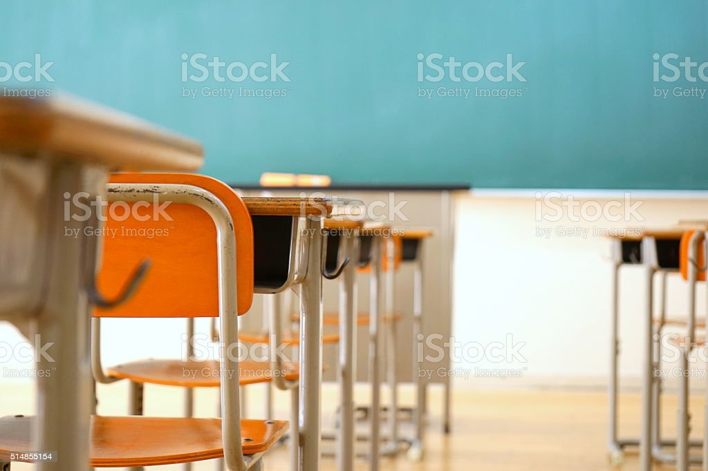 School classroom in Japanese high school stock photo