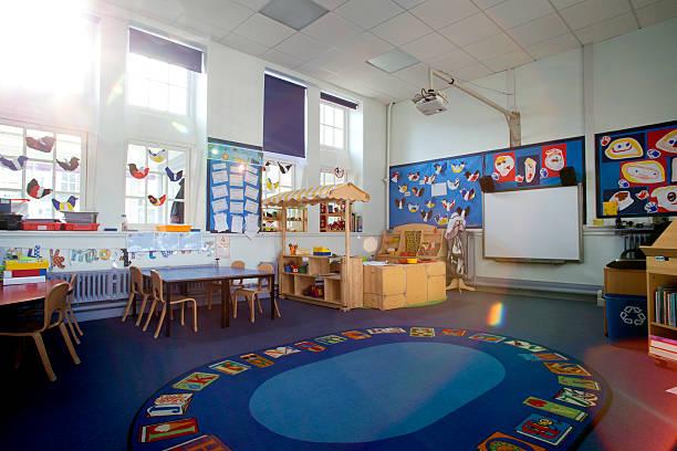学校教室のインテリア - 美術の授業 ストックフォトと画像
