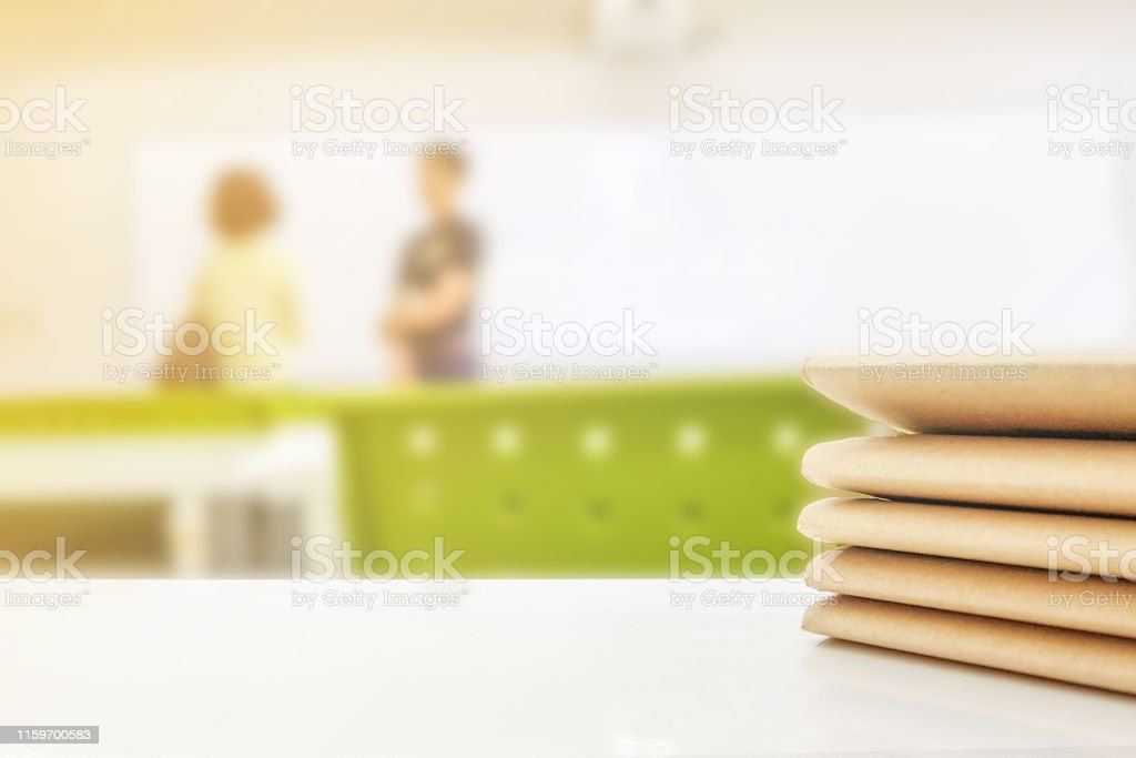 School classroom of young student with teacher meet the parent day in...