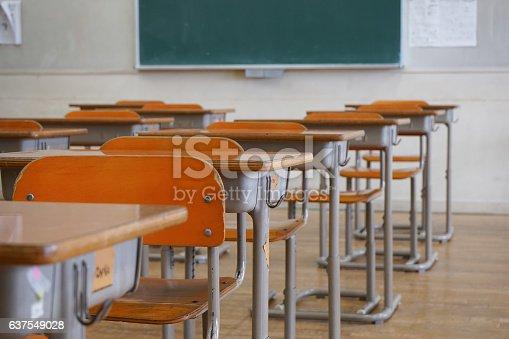istock School classroom with blackboard 637549028