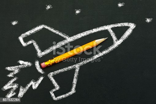 School concept on blackboard