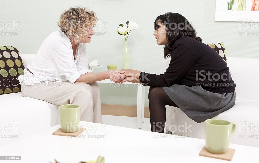 school counsellor: helping hands royalty-free stock photo