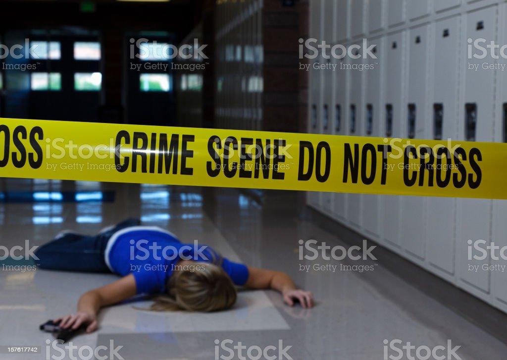 School Crime Scene royalty-free stock photo