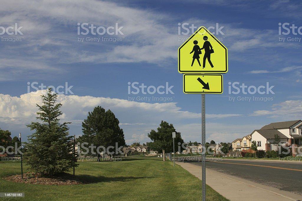 School Crossing stock photo