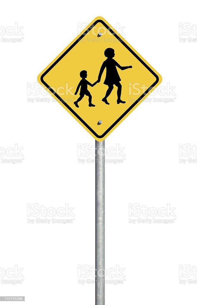 School Crossing Sign stock photo