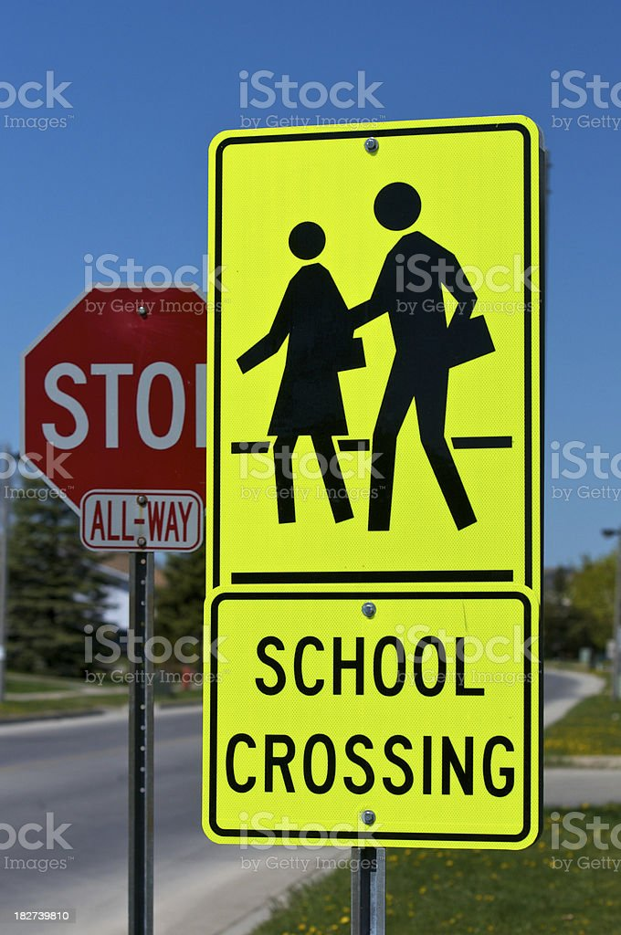 School Crossing Sign royalty-free stock photo