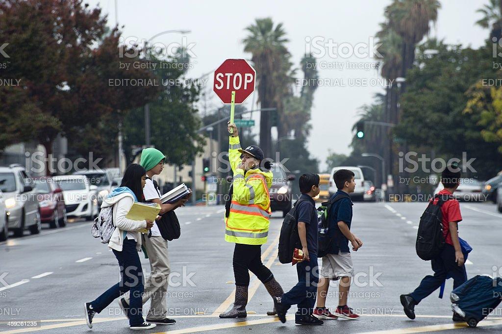 school crosswalk royalty-free stock photo