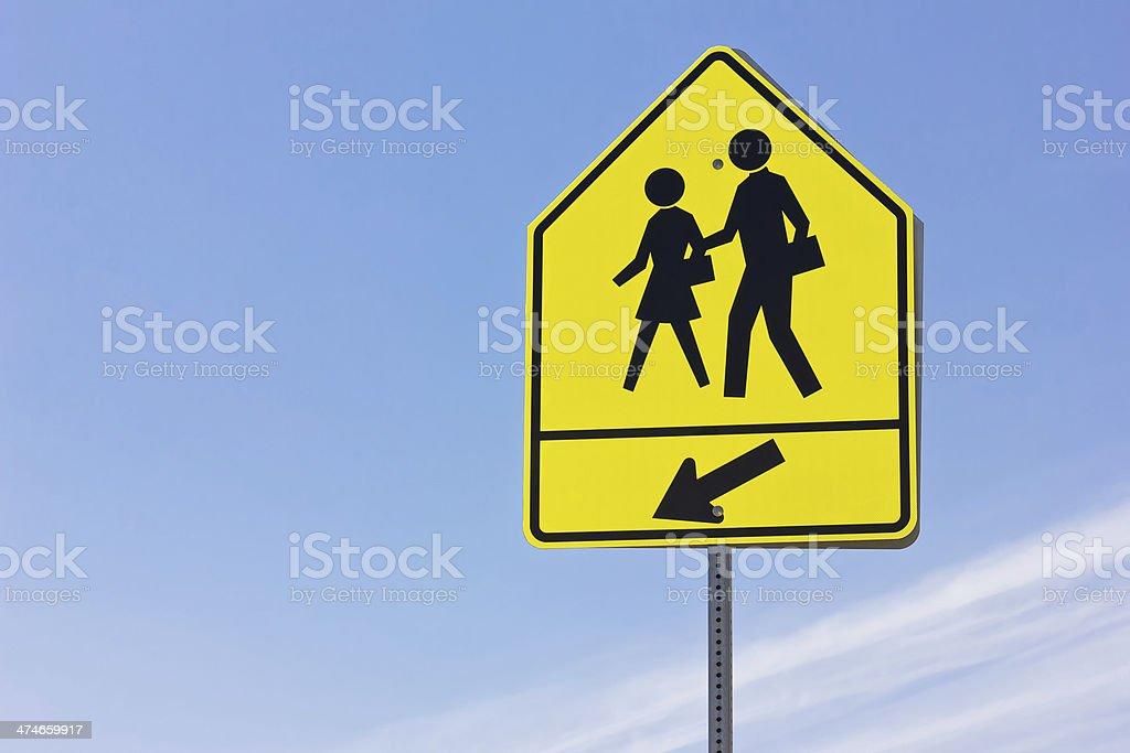 School Crosswalk stock photo