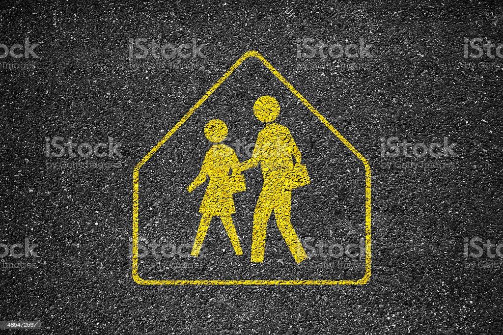School Crosswalk Sign stock photo