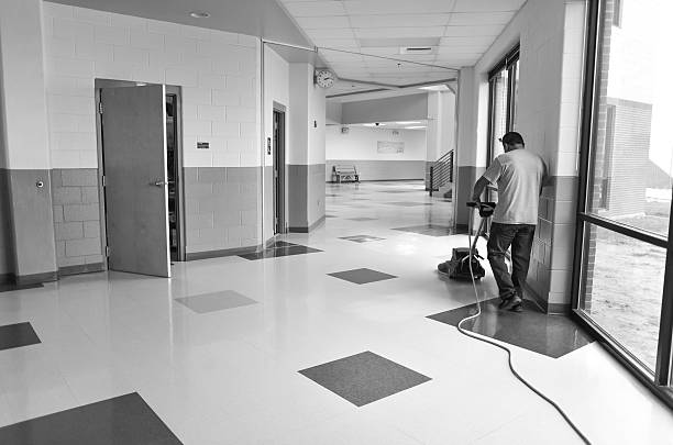school custodian working - custodian stock pictures, royalty-free photos & images
