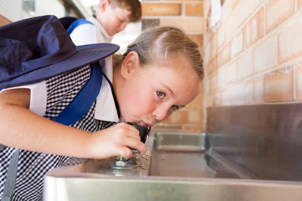 école days - fontaine photos et images de collection