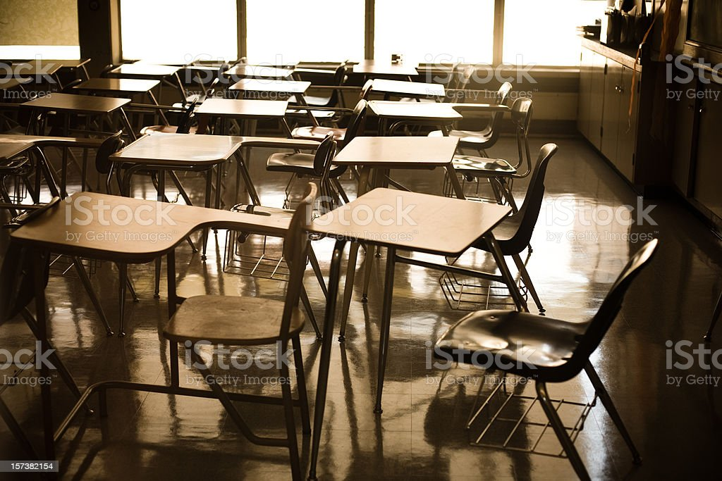 School Desks stock photo