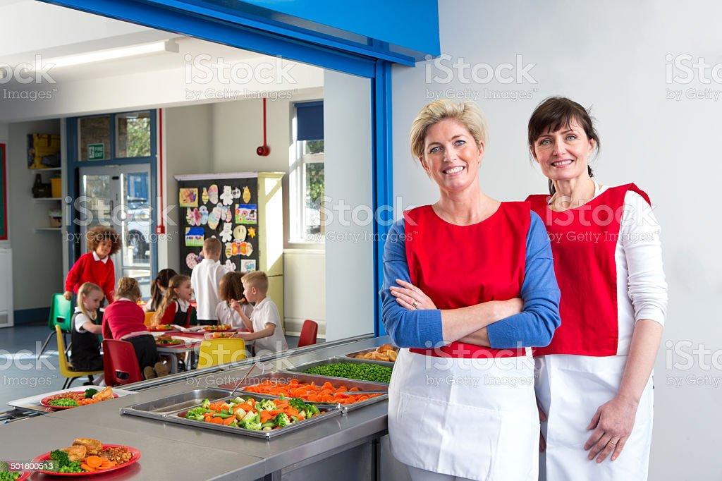 School Dinner Ladies stock photo