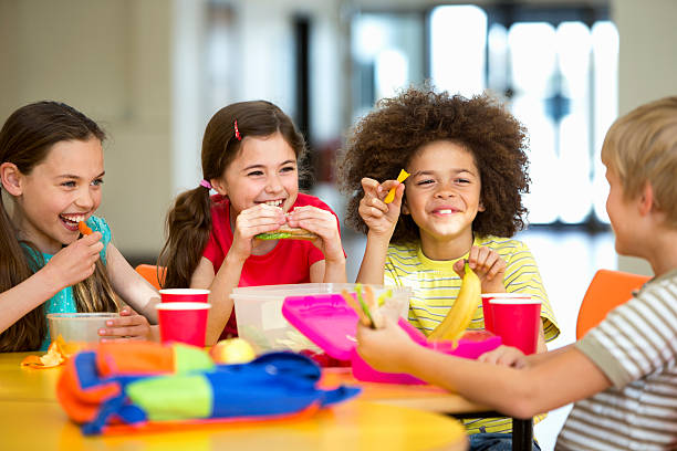 School Dinners stock photo