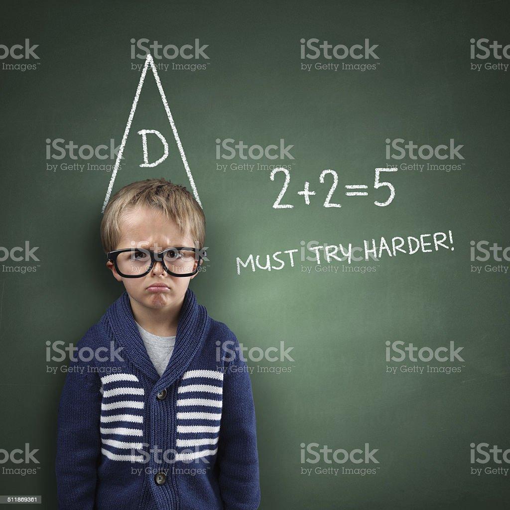 School dunce stock photo