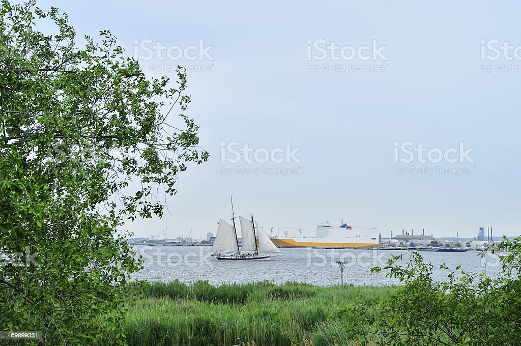 School Field Trip In Baltimore Harbor stock photo