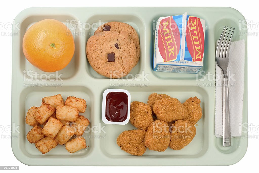 School Food - Chicken Nuggets royalty-free stock photo