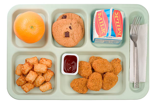 School Food - Chicken Nuggets stock photo