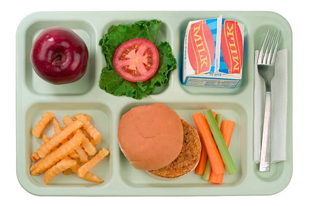 School Food - Veggie Burger stock photo