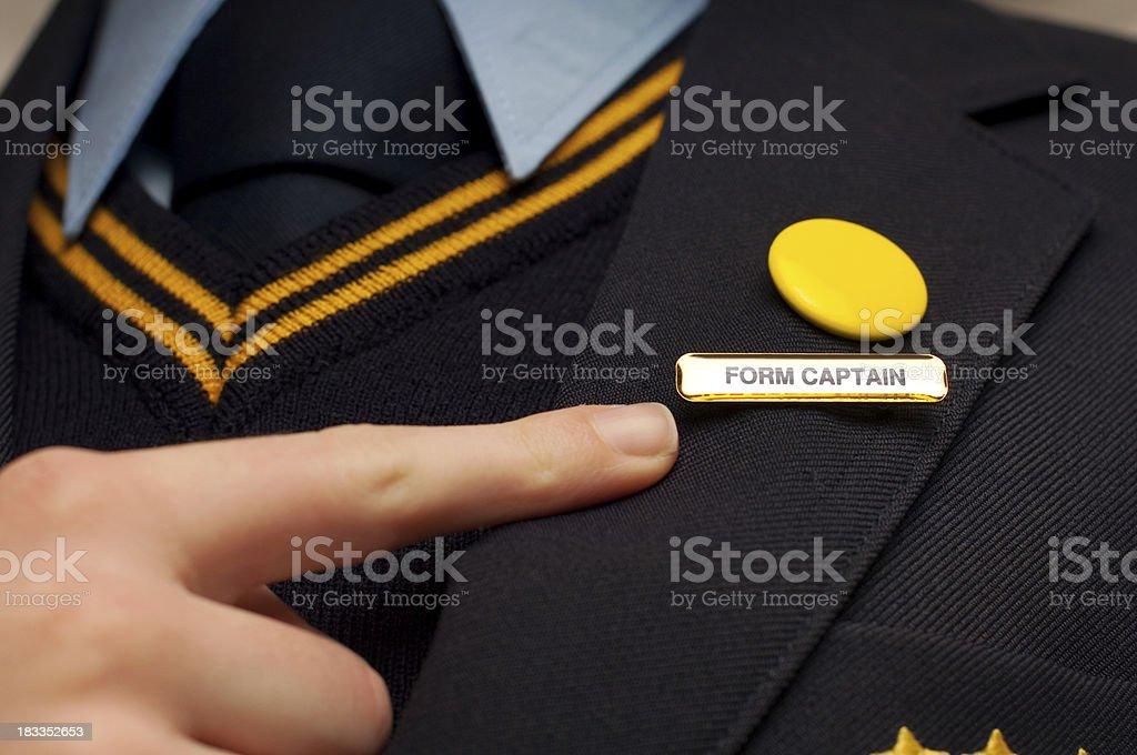 school form captain badge stock photo
