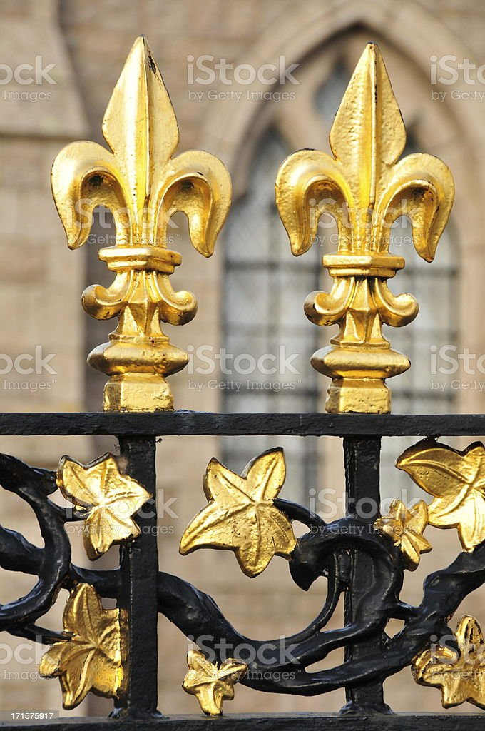 School gates, Jersey. royalty-free stock photo