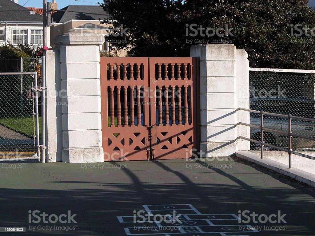 School Gates royalty-free stock photo