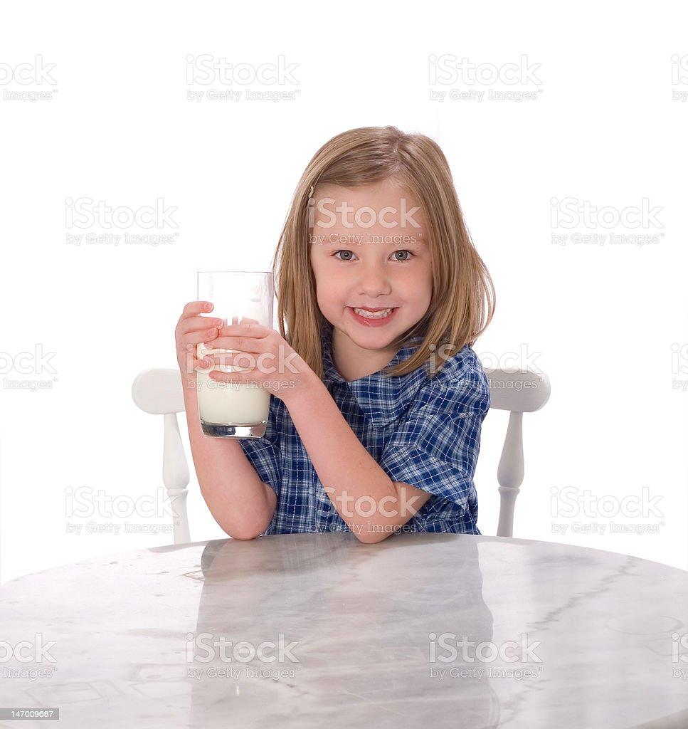 School Girl Drinking Milk royalty-free stock photo