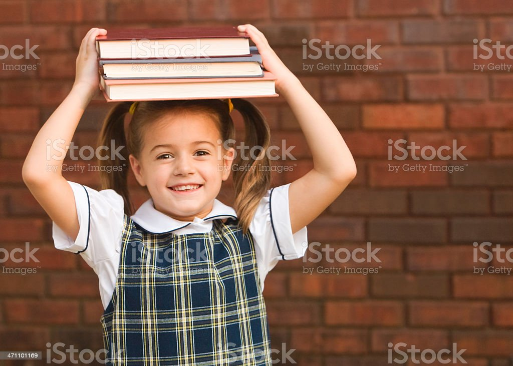 School Girl Giggles stock photo