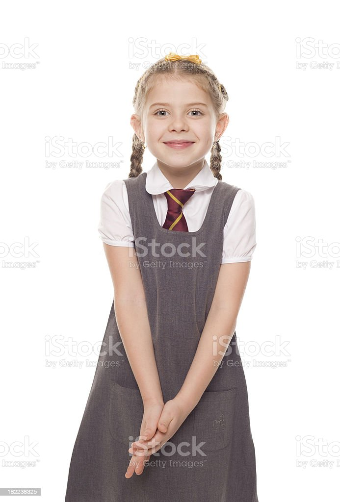 School Girl, Studio Portrait stock photo
