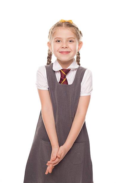 School Girl, Studio Portrait stock photo
