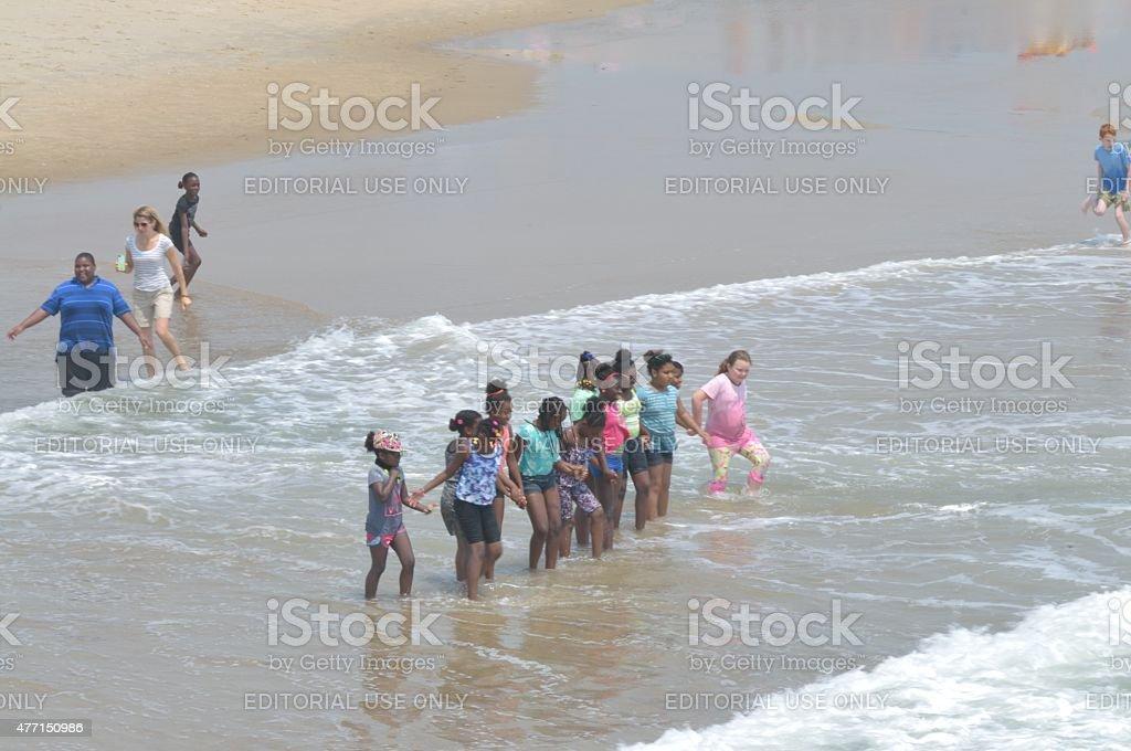 Colegiais no Surf - foto de acervo